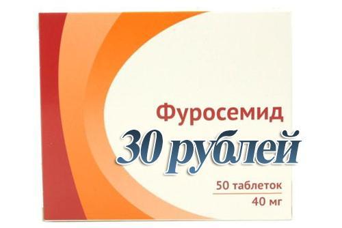 Упаковка таблеток Фуросемид
