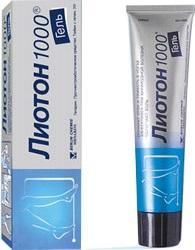 Гель-лиотон 1000: инструкция, аналоги, цена